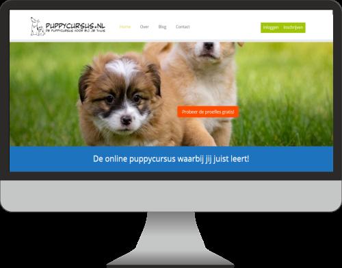 puppycursus.nl website